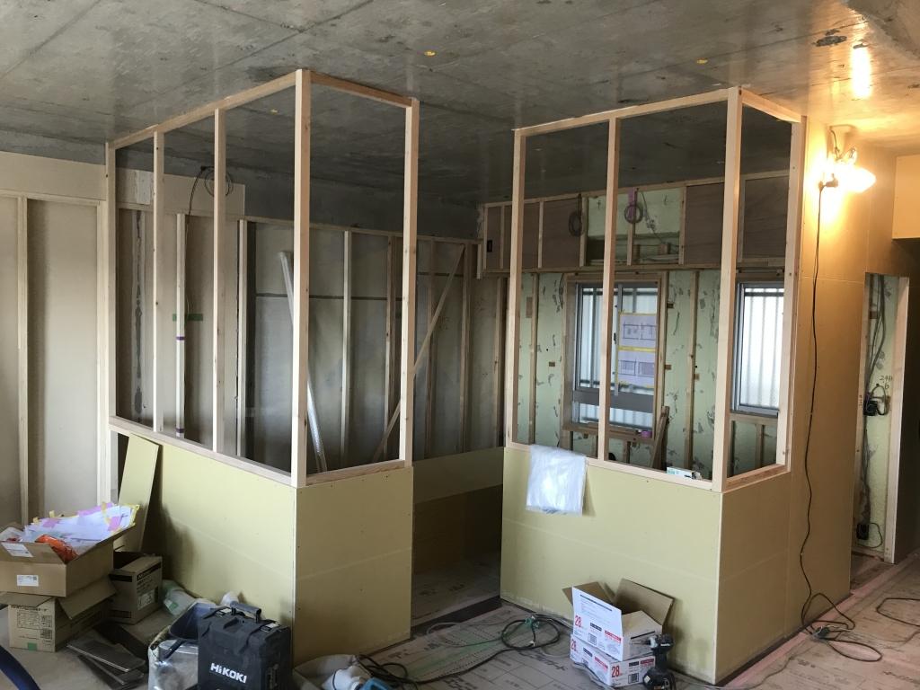 リノベ工事44日目室内窓木枠